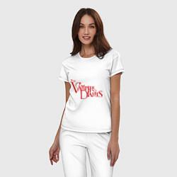 Пижама хлопковая женская The Vampire Diaries цвета белый — фото 2