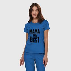 Пижама хлопковая женская Мама the best цвета синий — фото 2