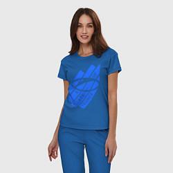 Пижама хлопковая женская A state of trance цвета синий — фото 2