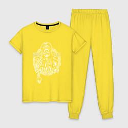 Пижама хлопковая женская Motrhead: Black Captain цвета желтый — фото 1