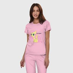 Пижама хлопковая женская Young Fluttershy цвета светло-розовый — фото 2