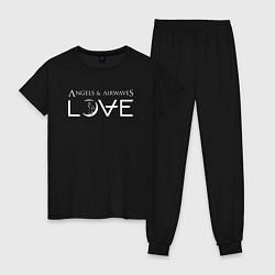 Пижама хлопковая женская Love AVA цвета черный — фото 1