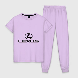 Пижама хлопковая женская Lexus logo цвета лаванда — фото 1