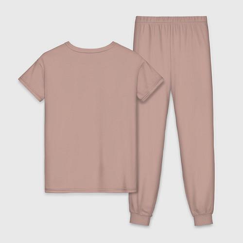Женская пижама Моя лучшая подруга / Пыльно-розовый – фото 2