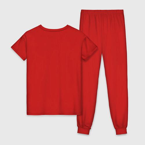 Женская пижама Эта ненормальная со мной / Красный – фото 2