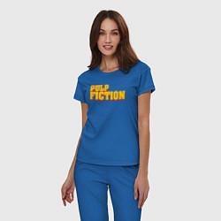 Пижама хлопковая женская Pulp Fiction цвета синий — фото 2