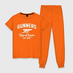Пижама хлопковая женская Arsenal Guinners цвета оранжевый — фото 1