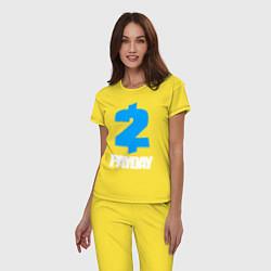 Пижама хлопковая женская PAYDAY 2 цвета желтый — фото 2