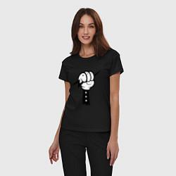 Пижама хлопковая женская Volt Hand цвета черный — фото 2