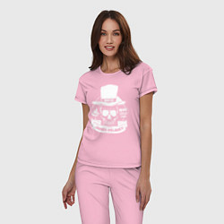 Пижама хлопковая женская Taboo: James Delaney цвета светло-розовый — фото 2