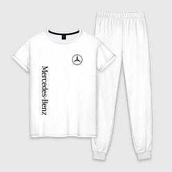 Пижама хлопковая женская MERCEDES-BENZ цвета белый — фото 1