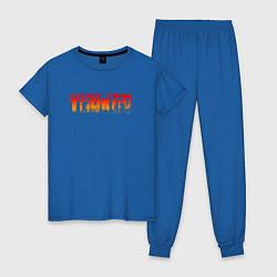 Пижама хлопковая женская ESCAPE FROM TARKOV цвета синий — фото 1