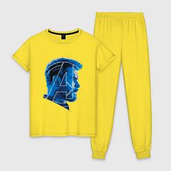 Пижама хлопковая женская Thor: Avengers цвета желтый — фото 1