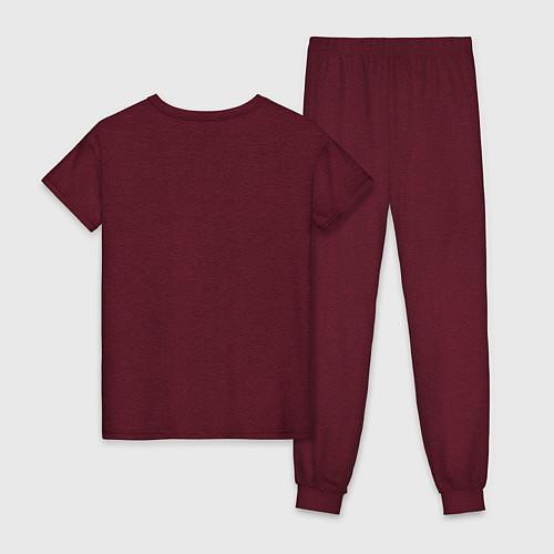 Женская пижама BTS ARMY / Меланж-бордовый – фото 2