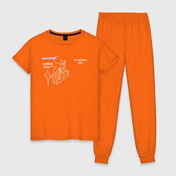 Пижама хлопковая женская SAYONARA BOY цвета оранжевый — фото 1