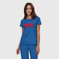 Пижама хлопковая женская Stigmata цвета синий — фото 2