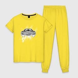 Пижама хлопковая женская Импала Винчестеров цвета желтый — фото 1