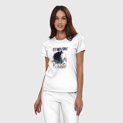 Пижама хлопковая женская Гарри Поттер цвета белый — фото 2