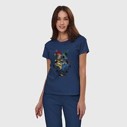 Пижама хлопковая женская Гарри Поттер цвета тёмно-синий — фото 2