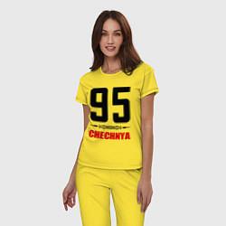 Пижама хлопковая женская 95 Chechnya цвета желтый — фото 2