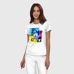 Пижама хлопковая женская Donald Duck цвета белый — фото 2