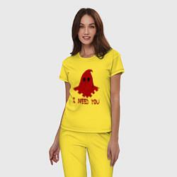 Пижама хлопковая женская Палач цвета желтый — фото 2