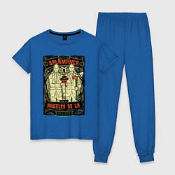Пижама хлопковая женская Братья Саламанка цвета синий — фото 1