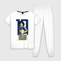 Пижама хлопковая женская 10 number цвета белый — фото 1