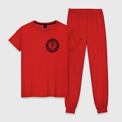 Пижама хлопковая женская Sons of Anarchy цвета красный — фото 1