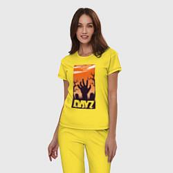 Пижама хлопковая женская DAYZ ДЕЙЗИ Z цвета желтый — фото 2