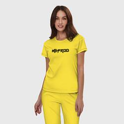 Пижама хлопковая женская Kefrod цвета желтый — фото 2
