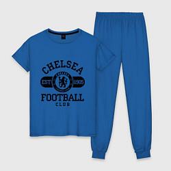 Пижама хлопковая женская Chelsea Football Club цвета синий — фото 1
