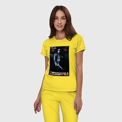 Пижама хлопковая женская Terminator JD цвета желтый — фото 2
