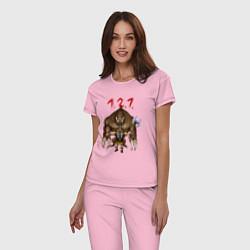 Пижама хлопковая женская Разнос на 121 цвета светло-розовый — фото 2