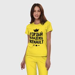 Пижама хлопковая женская Гордый владелец Renault цвета желтый — фото 2