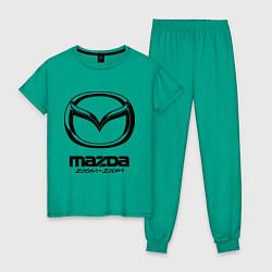 Пижама хлопковая женская Mazda Zoom-Zoom цвета зеленый — фото 1