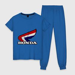 Пижама хлопковая женская Honda цвета синий — фото 1
