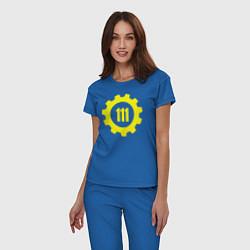 Пижама хлопковая женская Vault 111 цвета синий — фото 2