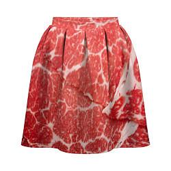 Юбка-солнце 3D женская Кусок мяса цвета 3D — фото 1