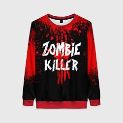 Свитшот женский Zombie Killer цвета 3D-красный — фото 1