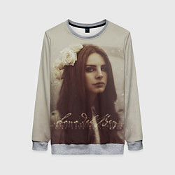 Свитшот женский Lana Del Rey: Flower цвета 3D-меланж — фото 1