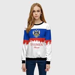 Свитшот женский Tyumen: Russia цвета 3D-черный — фото 2