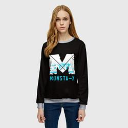 Свитшот женский MONSTA X цвета 3D-меланж — фото 2