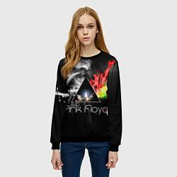 Свитшот женский Pink Floyd цвета 3D-черный — фото 2