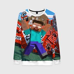Свитшот женский Minecraft Man цвета 3D-белый — фото 1