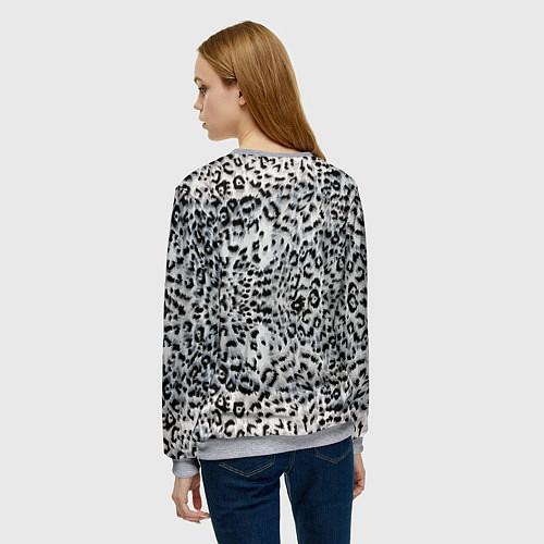 Женский свитшот White Jaguar / 3D-Меланж – фото 4