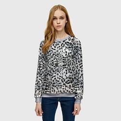 Свитшот женский White Jaguar цвета 3D-меланж — фото 2