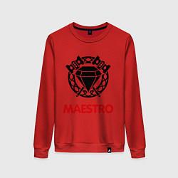 Свитшот хлопковый женский Dwarf Fighter - Maestro цвета красный — фото 1
