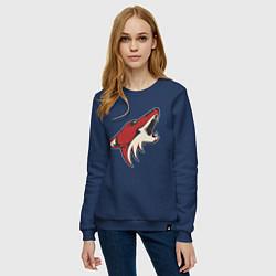 Свитшот хлопковый женский Phoenix Coyotes цвета тёмно-синий — фото 2