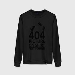 Свитшот хлопковый женский 404 цвета черный — фото 1